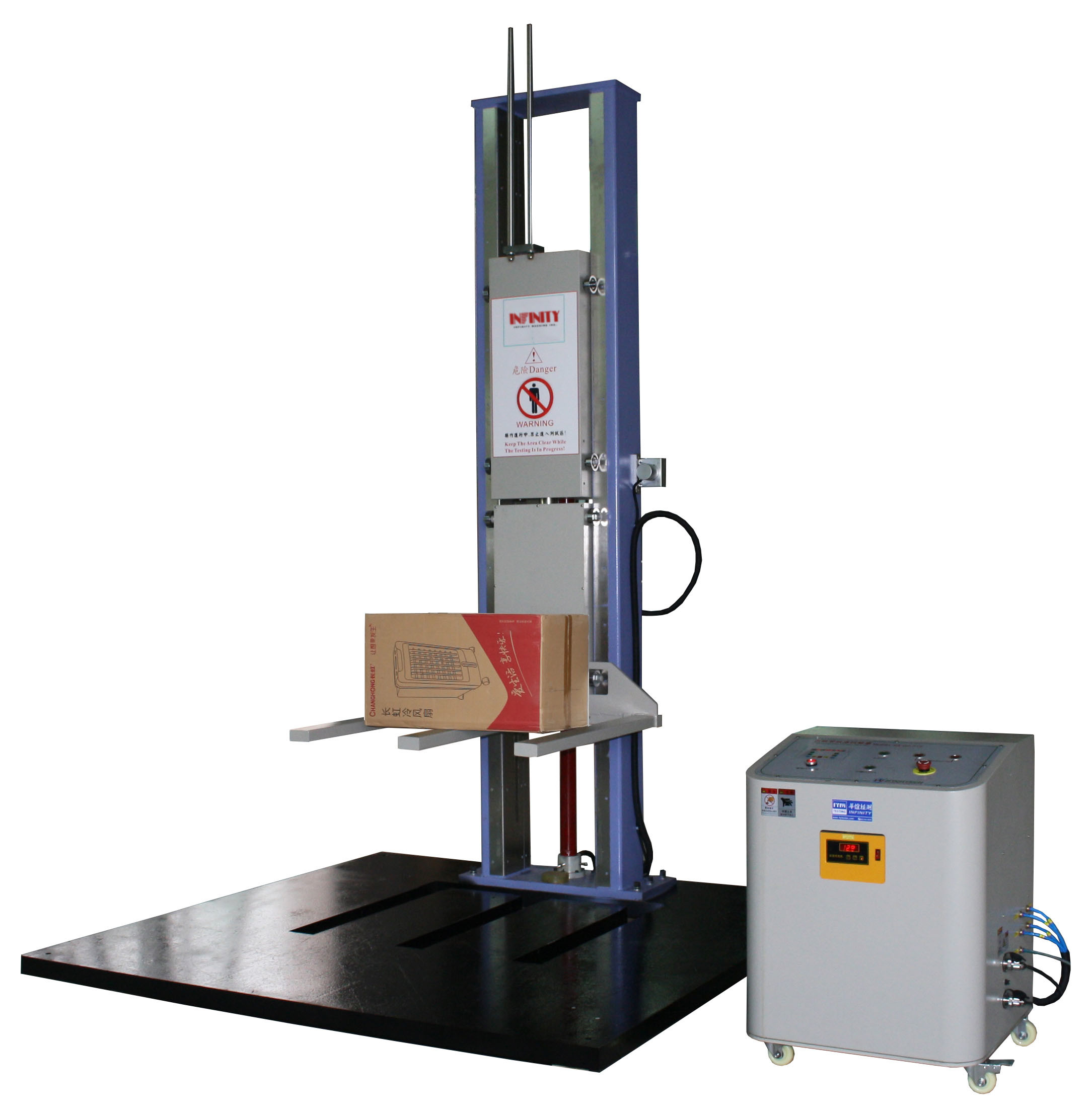 Paper Package Free Fall Drop Tester , 2.5 Kva Drop Weight Impact Test Machine