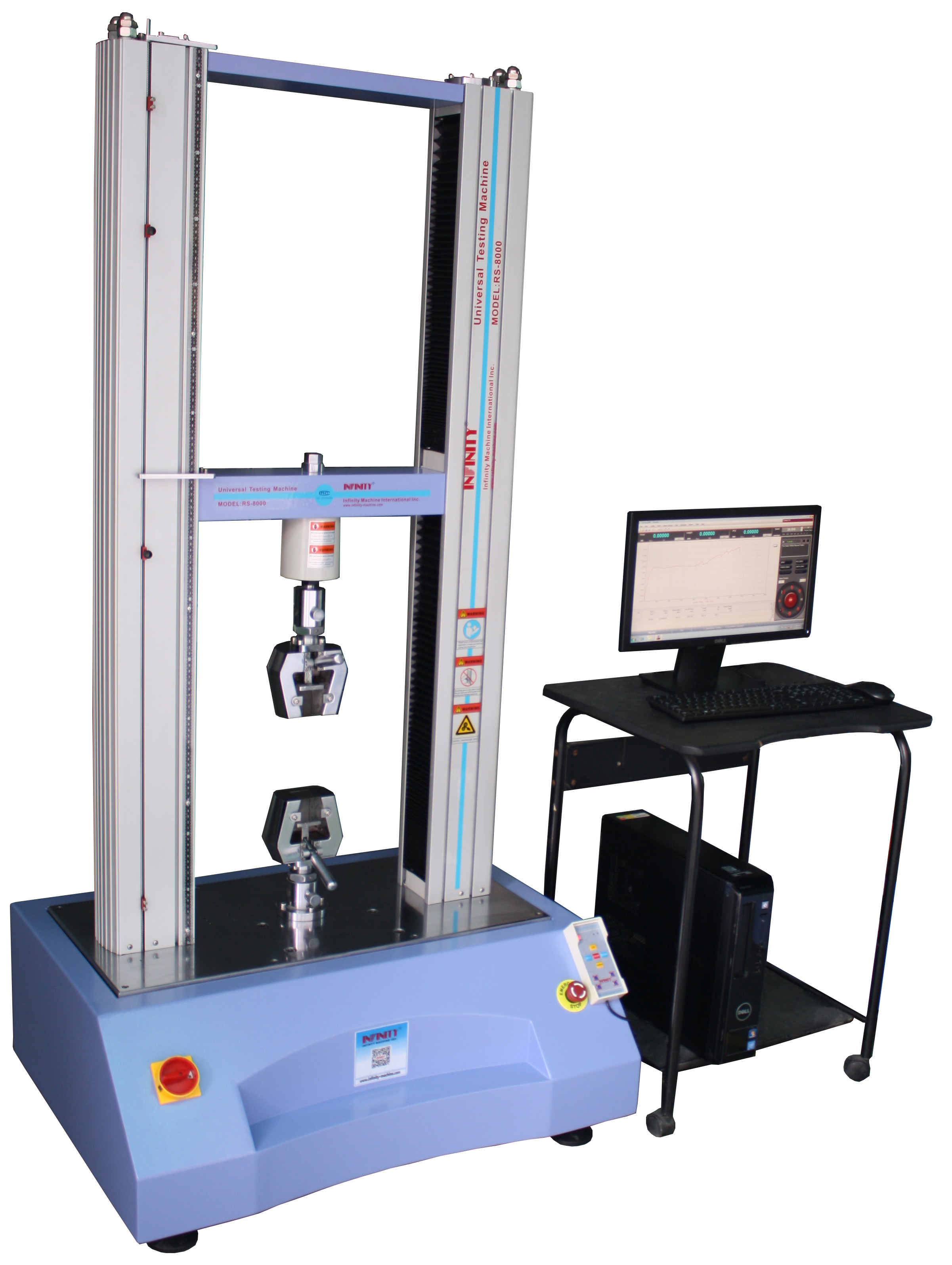 100N To 50KN Servo Control Plastic / Rubber Tensile Universal Test Machine