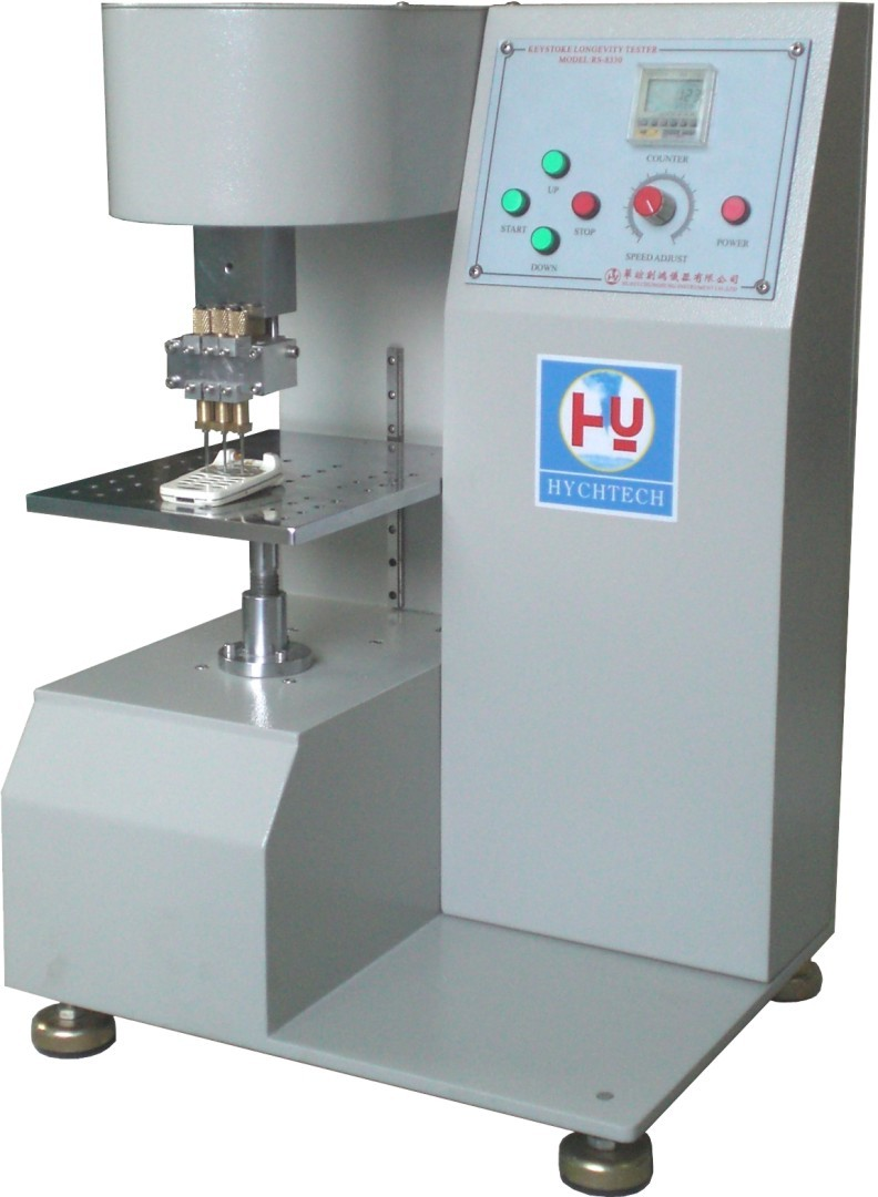 White Single Axis Electronic Universal Testing Machine , Button Life Testing Machine